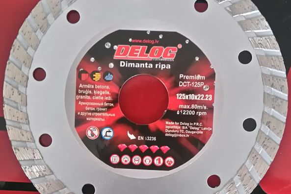 Dimanta ripas TURBO DELOG