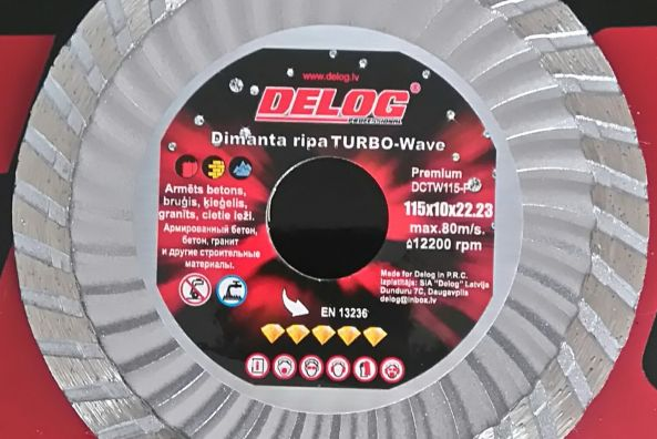 Dimanta ripas TURBO-W Delog